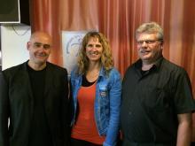 Der Landesvorstand: Michael Baumeister, Ingrid Gerber, Bernd Kochanek